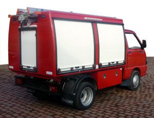 Example of Electrical small rescue and fire fighting vehicle