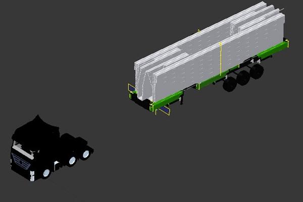 Elisuperficie mobile, sganciata e pronta al montaggio.