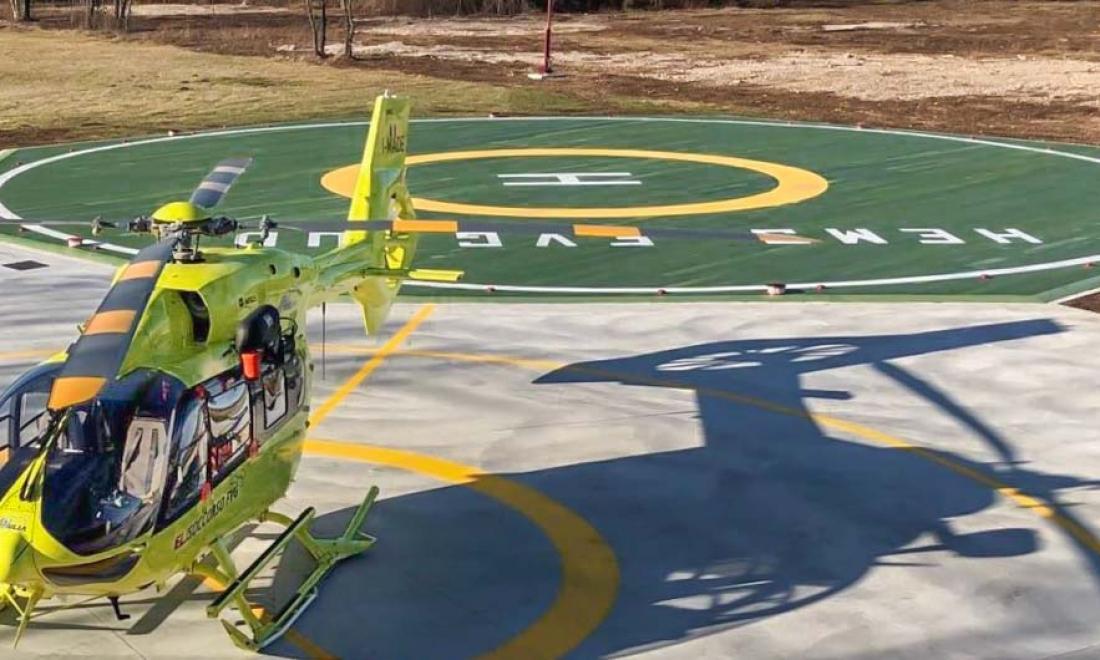 I prodotti Helipad Industries scelti per la realizzazione del primo Eliporto – base del servizio medico di emergenza con elicotteri (HEMS) del Friuli Venezia Giulia
