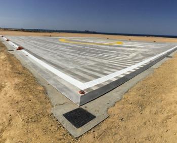 Helinest è l'elisuperficie in alluminio progettata per rispecchiare le esigenze della committenza.